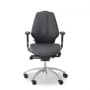 RH Logic 300 elegance ergonomic office chair with arm rests.