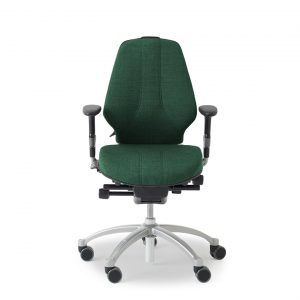 RH 300 Logic Comfort chair in green with height adjustable arms.