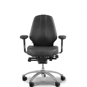 RH Logic 300 Elite with height adjustable arms in black.