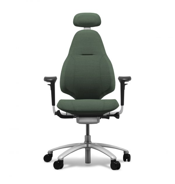 RH Mereo 220 office chair with arms, headrest and silver base.