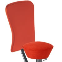 Ferraro red seat and backrest cover microfibre