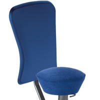 Royal blue seat and backrest cover microfibre