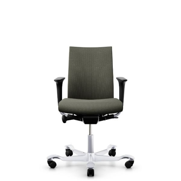 Hag Creed 6004 office chair with height adjustable arms and silver base.