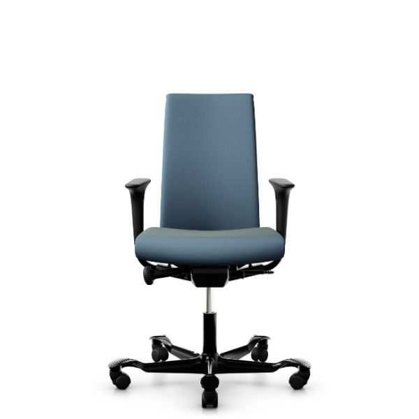 Hag Creed 6005 office chair with height adjustable arms and black base.
