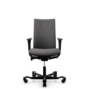 Hag Creed 6006 office chair with height adjustable arms and black base.