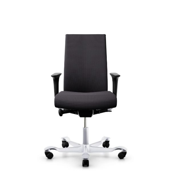 Hag Creed Office Chair With Height Adjustable Arms and silver base.
