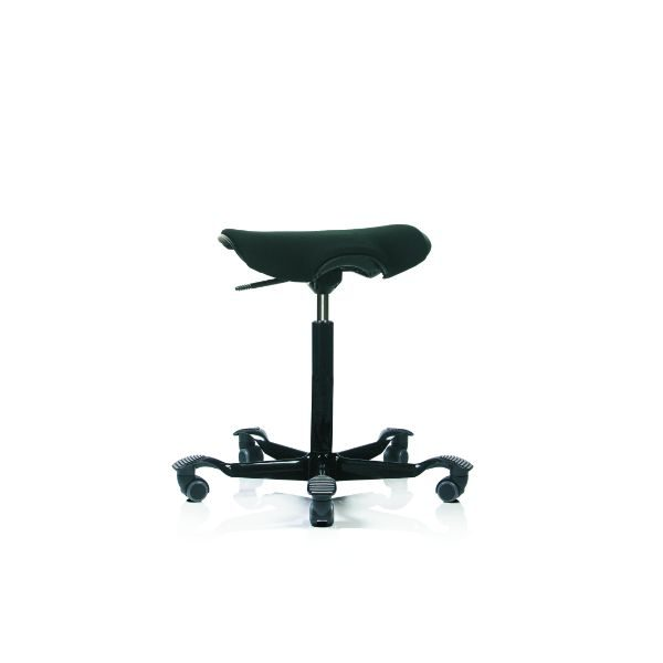 Hag Capisco Puls 8002 stool in black with black base