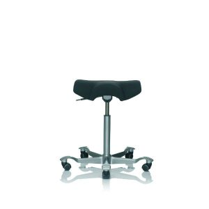 Hag Capisco 8105 stool in black with polished base