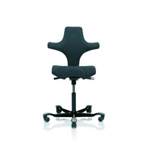 Hag Capisco 8106 chair in black with black base