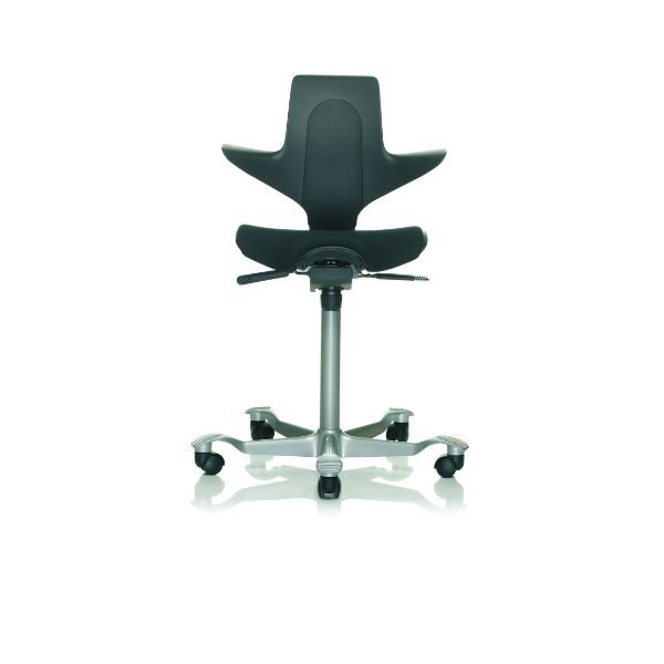 Hag Capisco Puls 8020 chair in black with silver base