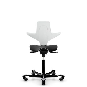 Capisco puls 8020 white shell black seat cover black base