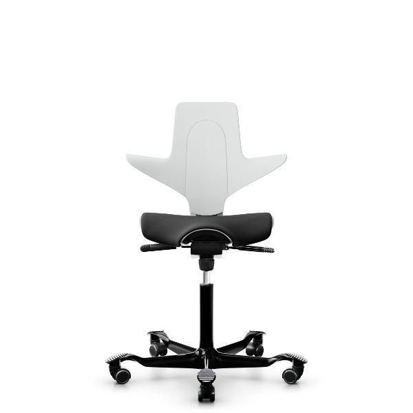 Capisco puls 8020 white shell black seat cover black base