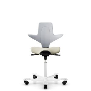 Capisco puls 8020 in light grey shell with white base