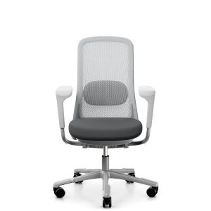 Hag sofi mesh with grey mesh back and dark grey seat