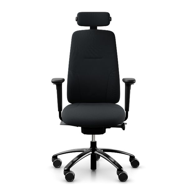 RH Logic 220 chair with neck rest arms in black