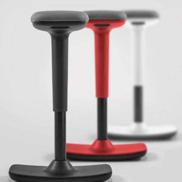 Lo-Rise stool in red, black or white